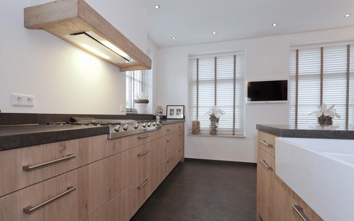 Thijs van de wouw keukens eiken royaal comfort - Dimensie centraal keuken eiland ...
